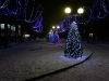 Унеча. Новогоднее убранство сквера у памятника Танкистам