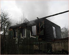 При пожаре в деревне Сельцо погибли два пенсионера