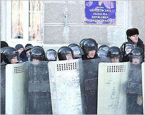 В Чернигове при беспорядках 25 января пострадали 20 милиционеров