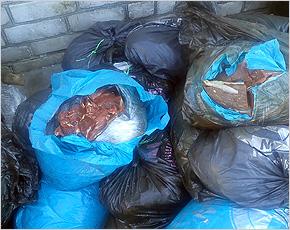За год в украинских поездах перехвачено 60 тонн нелегального мяса и сала