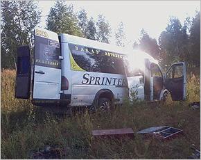 В калужской Жиздре в ДТП погибли три человека из брянского автобуса