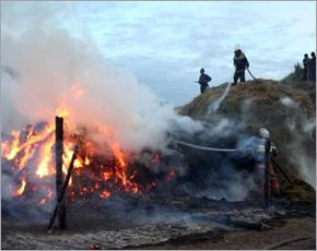 МЧС сообщает: в среду в Брянске горели два дома, в Стародубе — сено