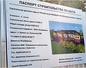Новые детские сады в Володарском районе будут открыты до 1 сентября