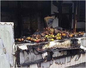 В Карачеве сгорел центральный городской рынок