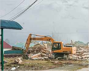 В Супонево снесён «Народный Дом»