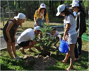 Участники международного лагеря «Радуга-2015» посадили девятое «Дерево дружбы»