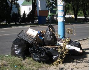 В первую генуборку к юбилею Брянска собрано 1860 кубометров мусора