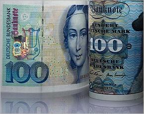Почти 13 млрд. немецких марок все еще не поменяли на евро