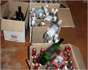 Брянские полицейские изъяли перед Новым годом партию алкоголя в 140 бутылок