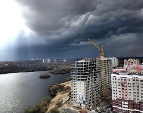 Четверг в Брянске ознаменован первой весенней грозой и градом (ФОТО)