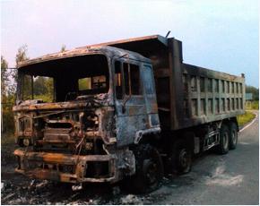 МЧС сообщает: во вторник в регионе горело два автомобиля и блок сараев