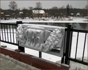 Смотровую площадку на Набережной в Брянске украсили снятые с фонтана барельефы
