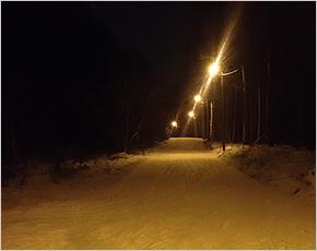На лыжной трассе в Клинцах появилось освещение