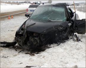 ЧП в Дятьковском районе: водитель «Лады» погиб, вылетев на «встречку»