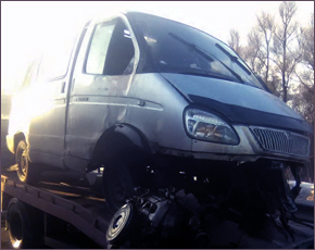 Трагедия на выезде из Погара: «ГАЗель» налетела на ограждение моста (ФОТО)