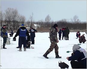 В Комаричском районе прошли соревнования по подлёдному лову