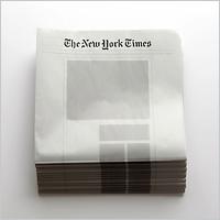 В продаже появились газеты с пустыми страницами