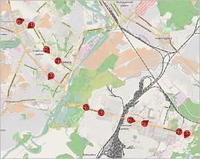 В Брянске в тестовом режиме вновь запущен онлайн-сервис отслеживания общественного транспорта