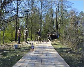 В заповеднике «Брянский лес» началось строительство тропы к музею наличников
