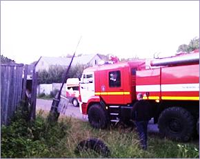 ГУ МЧС сообщает: в Супонево сгорел нежилой дом