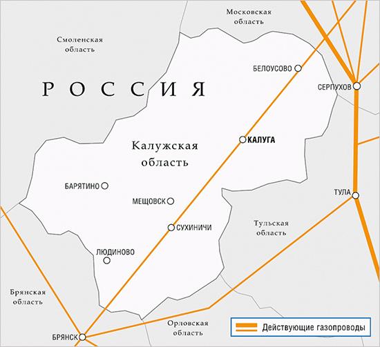 Брянская область отдаст «Газпрому» за долги 3,5 тыс. километров газовых сетей