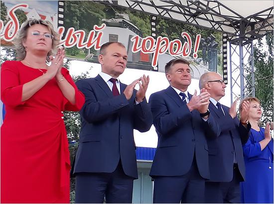 Юрий Гапеенко отметил День освобождения «своего» города