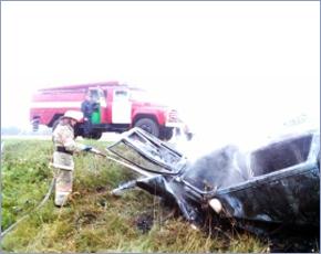 В сгоревших машинах в ДТП под Трубчевском погибли три человека