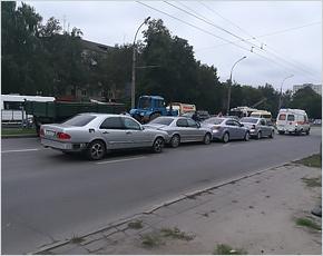 В авто-«паровозике» на проспекте Московском пострадал восьмилетний мальчик