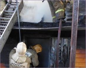 ГУ МЧС сообщает: во вторник в регионе сгорели дом и баня