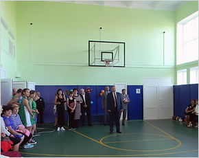В Сачковичской школе открылся отремонтированный спортивный зал