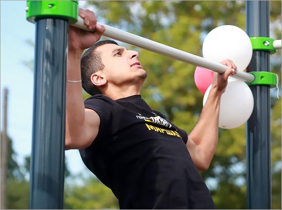 Сентябрь в Стародубе начался с открытия новой спортплощадки ГТО