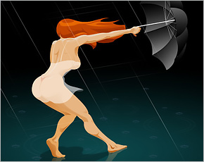 В Брянске прогнозируется сильный ветер с падением деревьев и рекламных щитов