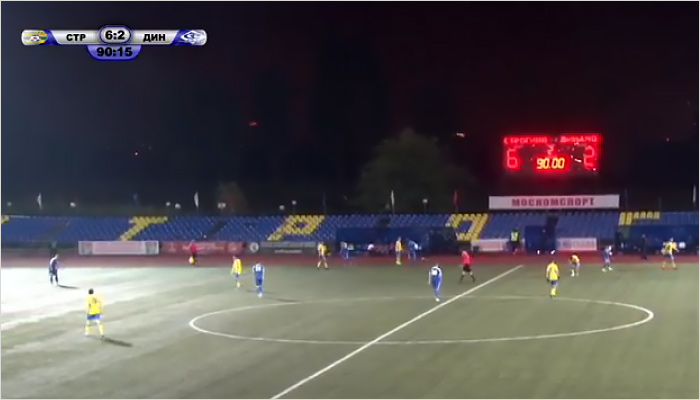 Брянские динамовцы потерпели нездоровое поражение отФК «Строгино»