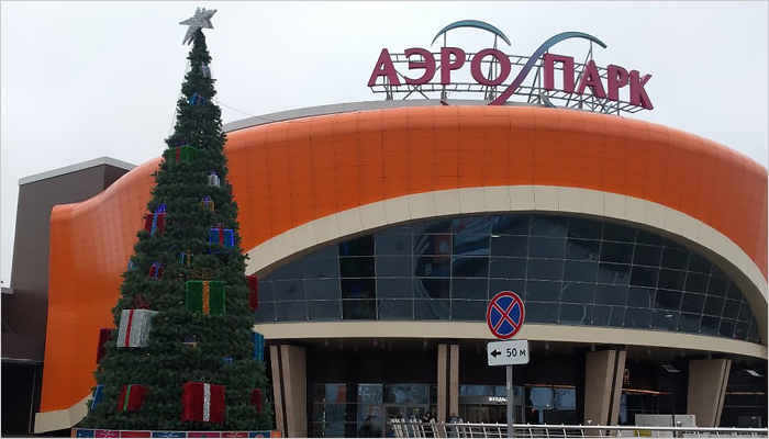 В Брянске установлены первые новогодние ёлки