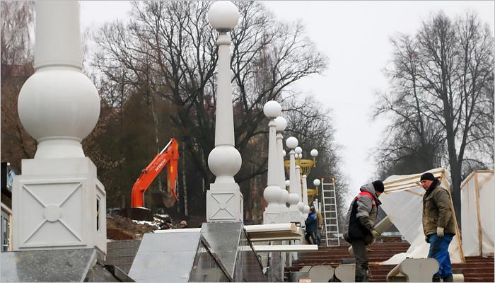 ВБрянске ремонт лестницы набульваре Гагарина завершат зимой