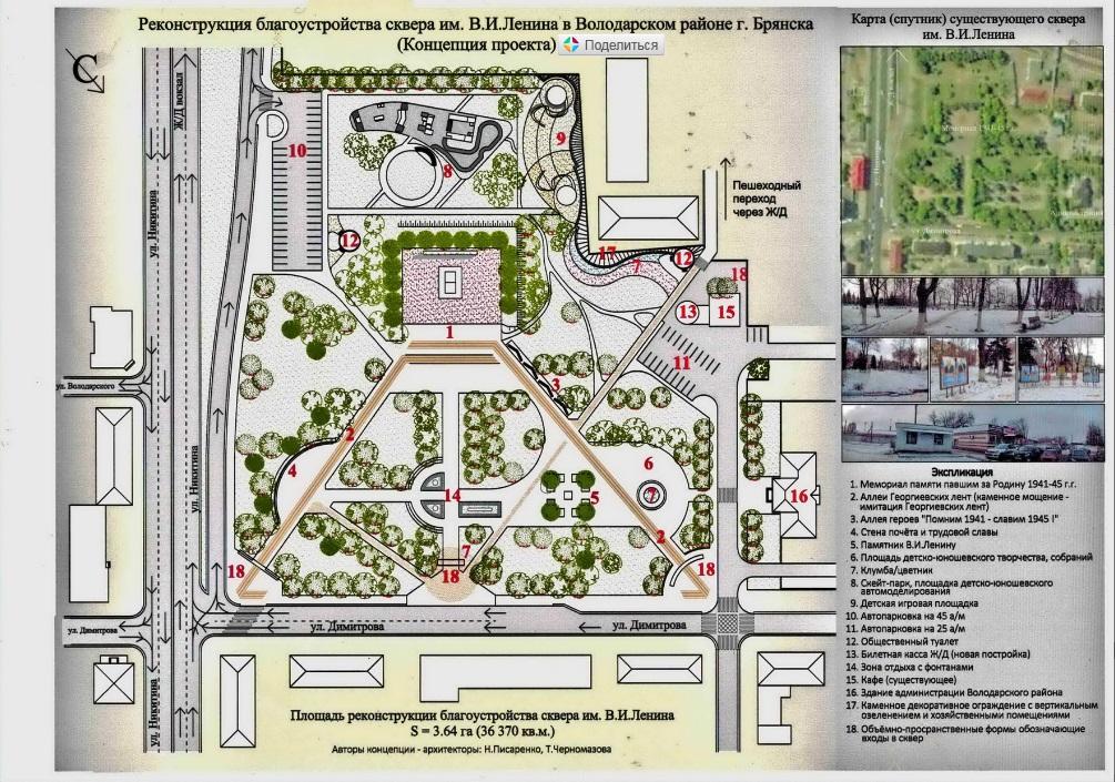 У жителей Володарки осталось два дня, чтобы внести свою лепту в дизайн-проекты Володарского, Пушкинского и Ленинского скверов