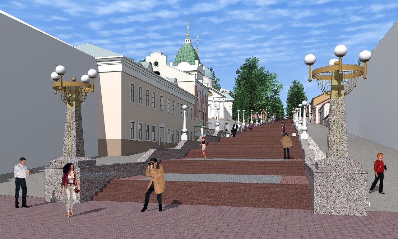 Брянские чиновники: «В проекте капремонта лестницы бульвара Гагарина пандусов не было»