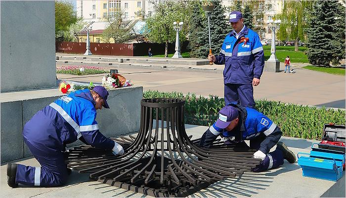 Профессионалы «Саратовгаза» позаботились о извечном огне вПарке Победы