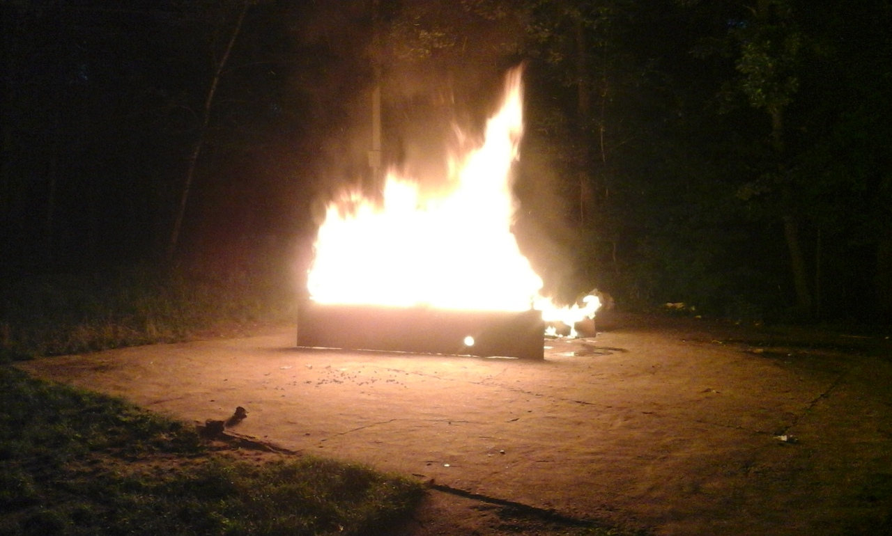На центральном пляже Брянска предприниматели предали огню свой бизнес