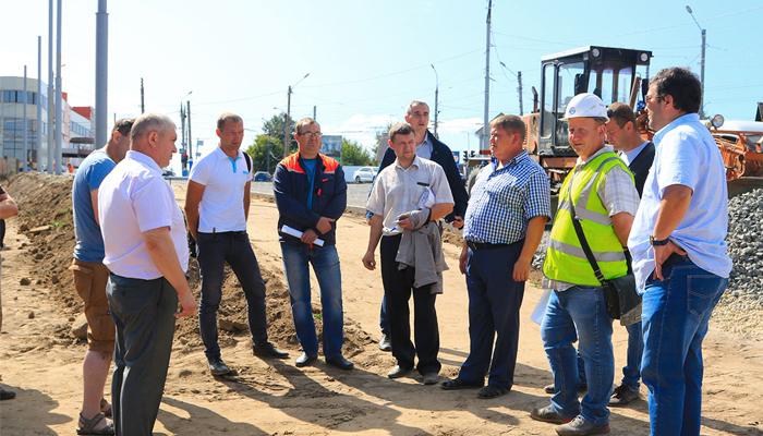 В Брянске работы по расширению Городищенской  горки идут по графику — горадминистрация
