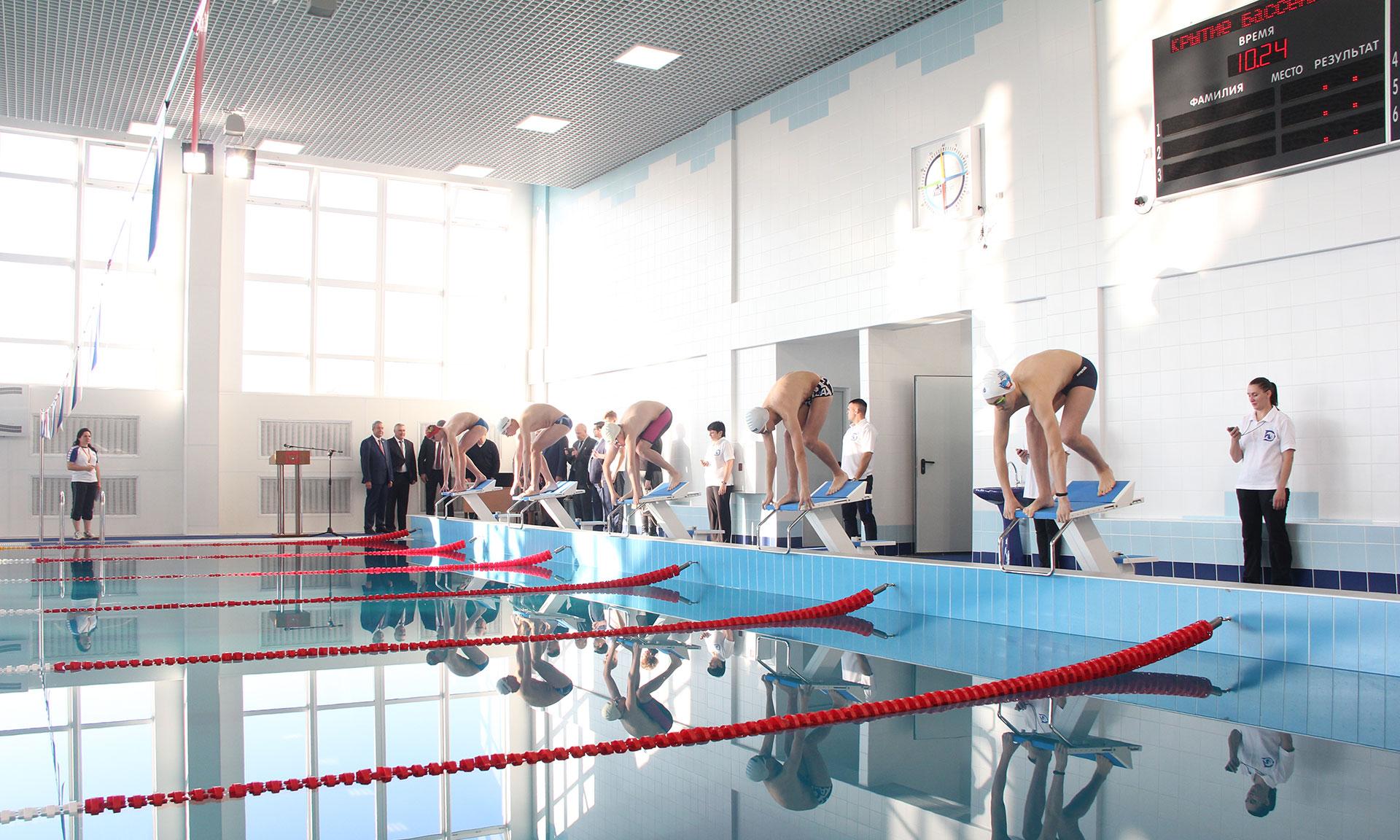 В Брянске с полуторамесячным опозданием открыт многострадальный бассейн на Новостройке