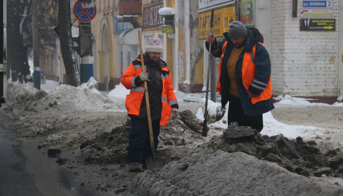 В Брянске за месяц вывезли с улиц больше 50 тонн снега