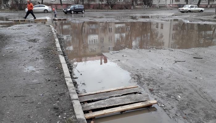 Весна в Брянске началась по традиции с разлива речки Богомазовки